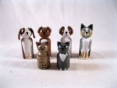 inspiration only, really cute pet clothes peg dolls