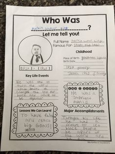Who Was...? Biography Project, Grades 2-5