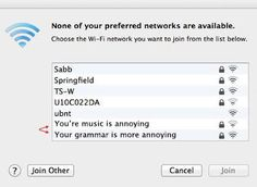 Neighbors Communicating by Humorous Wi-Fi Network Names