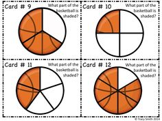 Basketball Fraction SCOOT Game! Get your kids engaged with fractions and basketballs in one game!  SO FUN!