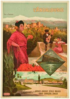 Frederic Hugo d' Alesi #vintage #Andalousie