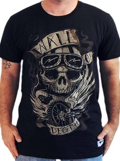 "Men's ""Wall Of Death"" Tee by WAX (Black)"