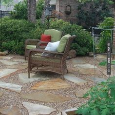 Patio Pea Gravel Design