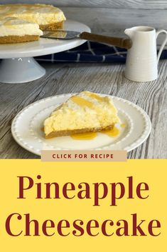 Delicious Pineapple Cheesecake, so easy to make with just a few ingredients. A biscuit base with a cream cheese, condensed milk and pineapple filling. The best recipe! Pineapple Cheesecake, Pineapple Dessert Recipes, Jelly Slice, Lolly Cake, Condensed Milk Recipes, Buttery Biscuits, Potluck Dishes, Pot Luck, Cheese Cakes