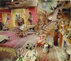 Color shot of the Addams Family