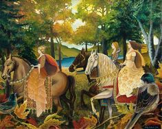 """Autumn Riders"" - A print from the original painting by Emily Balivet, 2006."