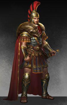 Fantasy Heroes, Fantasy Male, Fantasy Armor, Dark Fantasy, Medieval Fantasy, Roman Characters, Fantasy Characters, Fantasy Character Design, Character Art