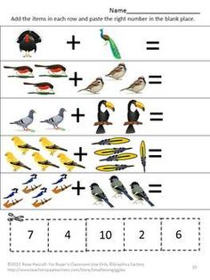 Worksheet Variety Packet, Pre-K, K and Special Education.Bird watching ...