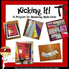 Help your students master their math facts Math Facts Practice Karate Style Multiplication Facts Practice, Math Fact Practice, Math Facts, Maths, Fourth Grade Math, First Grade Math, Grade 3, Second Grade, Math Activities