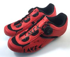 c1a2ad79f5a2 Women s Lake CX175 Road Cycling Shoes U.S. Size 6 Red Black BOA Closure  System  Lake  Road