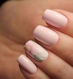 Having short nails is extremely practical. The problem is so many nail art and manicure designs that you'll find online Nail Polish, Manicure And Pedicure, Gel Nails, Nail Nail, Nail Glue, Acrylic Nails, Bridal Nails, Wedding Nails, Ongles Roses Clairs