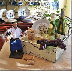french country design pictures | ... French-themed decor…like this rustic French wine country centerpiece
