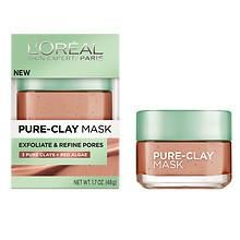 L'Oreal Paris Pure-Clay Mask, Exfoliate & Refine Pores at Walgreens. Get free shipping at $35 and view promotions and reviews for L'Oreal Paris Pure-Clay Mask, Exfoliate & Refine Pores