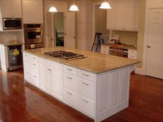 images of finished exotic granite in kitchens | ... Granite Countertops As Well As Cool White Finished Kitchen Cabinet