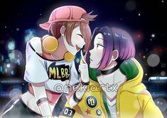Anime Couples Drawings, Couple Drawings, Mobile Legend Wallpaper, Mobile Legends, Anime Scenery, League Of Legends, Naruto, Fan Art, Bang Bang