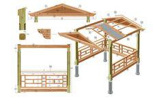 Pavillon selber bauen mit einfachen mitteln garten - Gartenlaube selber bauen anleitung ...