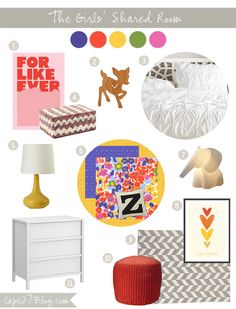 Little Girls Room Mood Board via Cape27Blog