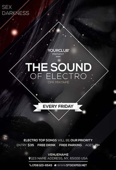 Marvelous Electro Sound Free PSD Flyer Template