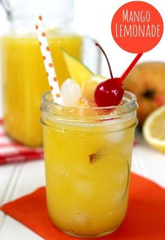 Best Homemade Lemonade Recipes | Fresh mango lemonade