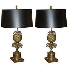 1960's pineapple lamps
