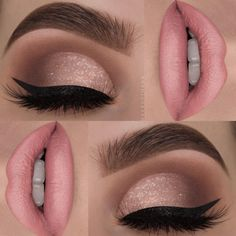 23 stunning prom makeup ideas to show off your beauty .- 23 atemberaubende Prom Make-up-Ideen, um Ihre Schönheit zu verbessern – pinbeauty 23 stunning prom makeup ideas to enhance your beauty - Glamorous Makeup, Glam Makeup, Makeup Inspo, Makeup Inspiration, Beauty Makeup, Pink Makeup, Pink Wedding Makeup, Bridal Makeup, Subtle Eye Makeup