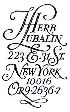 design et typo   » Herbert Lubalin Tribute