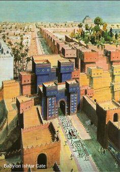 Brama Isztar prowadząca do świątyni Marduka