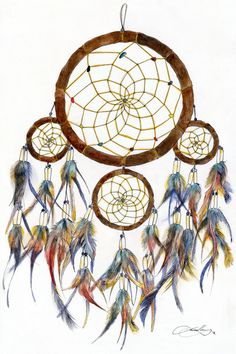 Cherokee Dream Catcher Endearing Pinagnieszka72 On Łapacze Snów  Pinterest  Dream Catchers Inspiration