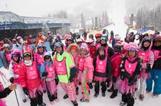 How about making a difference just by skiing or snowboarding for a day? No need to twist your arm, right? Snowboarding, Skiing, Pink Costume, Perfect Pink, World's Biggest, Arms, Costumes, Ski, Dress Up Clothes