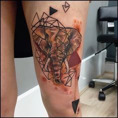 Abstract elephant on the thigh thanks for travelling down Mel! #Bonbonbizarre #houseofwolves #houseofwolvestattoo #elephant #elephanttattoo #abstractelephant #abstract #abstracttattoo #geometrictattoo #geometricpattern #thighttattoo #tattoo #tattoos #watercolourtattoo #watercolor #watercolortattoo #watercolourart #illustration #africanelephant #africantattoo #africa #mixedmediaartist #ukartist #uktattooartists #uktattoo by bonbonbizarre