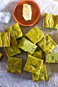 Green Chile and Tomatillo Corn Bread -- A cheesy, spicy and vibrant green version of the Southern classic.