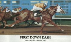 First Down Dash- One of the greatest ever. The best son of the Legendary Dash For Cash