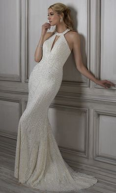 Pronovias Dresses, Floor Length Gown, Gorgeous Wedding Dress, Bridal Gowns, Sparkly Wedding Gowns, Simple Dresses, Ball Gowns, Adrianna Papell, Halter Neck Wedding Dresses