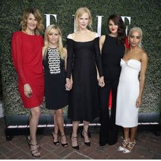 The cast of #BigLittleLies hit up Elle's event last night!  #NicoleKidman's wearing #Valentino #ReeseWitherspoon's wearing #DavidKoma #ShaileneWoodley's wearing #DolceGabbana