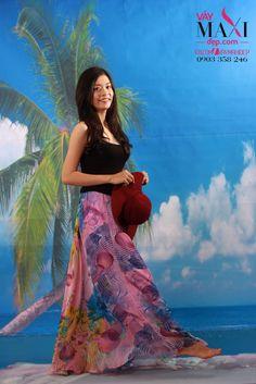 MIX 3 kiểu với chân váy maxi dài thướt tha - MX242 : Váy Maxi Đẹp