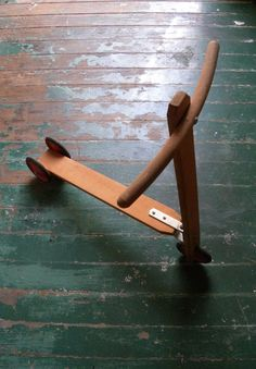 Vintage Wooden Toy 3 Wheel Scooter by VintiqueVillage on Etsy, $45.00