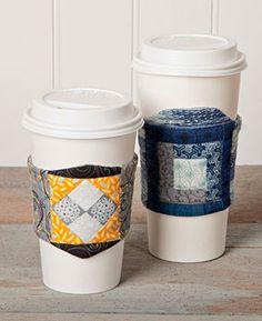 The Week 7 Pattern for our 12 Weeks of Christmas Series is now available. Learn how to make these awesome cup cozies with this FREE pattern. Only available at Connectingthreads.com #12WOC