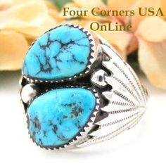 Four Corners USA Online - Sleeping Beauty Turquoise Men's Ring Size 14 Native American Zuni Silver Jewelry, $186.00 (http://stores.fourcornersusaonline.com/sleeping-beauty-turquoise-mens-ring-size-14-native-american-zuni-silver-jewelry/)