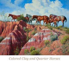 """Colored Clay And Quarter Horses"" ~ Jack Sorenson"