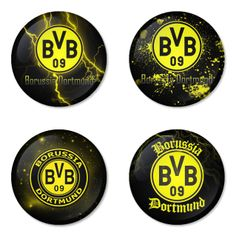 "BORUSSIA DORTMUND Football Club 1.75"" Badges Pinbacks, Mirror, Magnet, Bottle Opener Keychain http://www.amazon.com/gp/product/B00K3U285M"