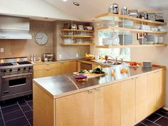 Love the open concept shelves instead of traditional cabinets.
