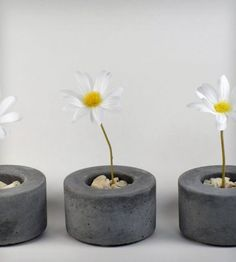 Spring into gardening with these Mini Round Concrete Pots