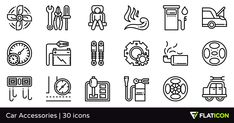30 free vector icons of Car Accessories designed by Eucalyp