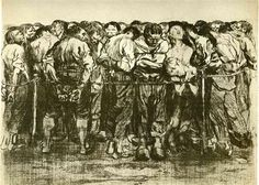 The Prisoners / Kathe #Kollwitz 1908.