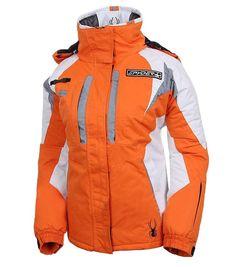 Spyder Women Ski Jackets Insulated Orange