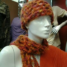 Red Hot & Blazing: Crochet Hat & Scarf Set