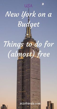 New York on a budget. Things to do for (almost) free in the Big Apple. Incl. a Airbnb coupon.