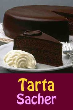 Sacher torte is a classic Austrian chocolate cake layered with apricot preserves. Köstliche Desserts, Chocolate Desserts, Delicious Desserts, Sweet Recipes, Cake Recipes, Dessert Recipes, Food Cakes, Cupcake Cakes, Cupcakes