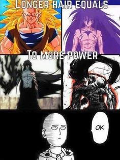 Long Hair = Power? One Punch Man thinks otherwise.