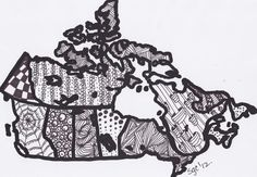 Abstract Drawing Map of Canada PDF File for by MyCreeksideStudio, $5.00